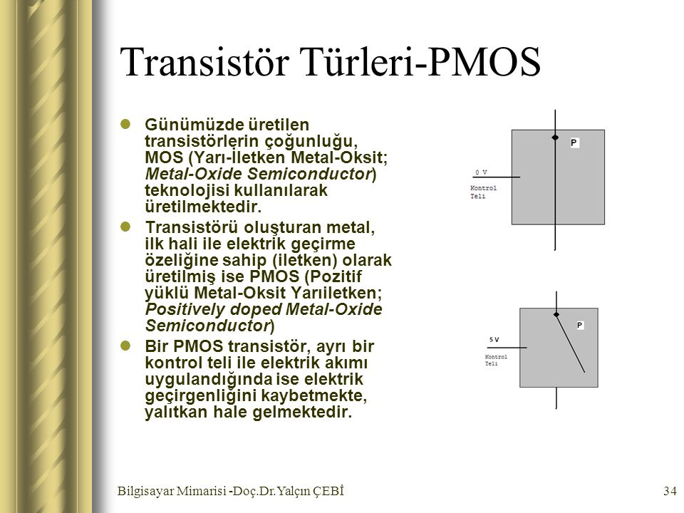 Transistör Türleri-PMOS
