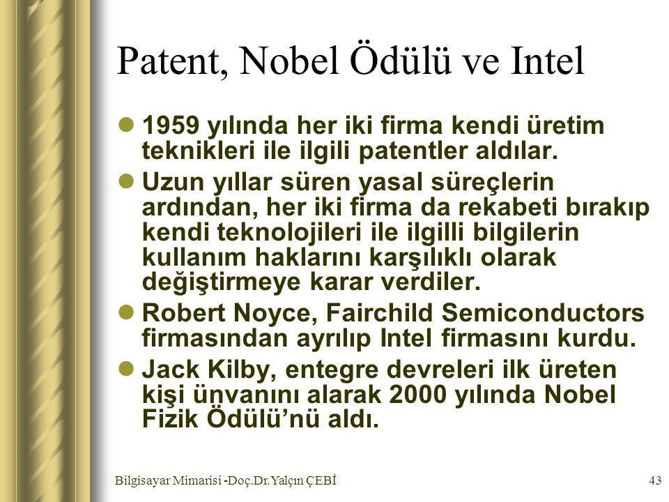 Patent, Nobel Ödülü ve Intel
