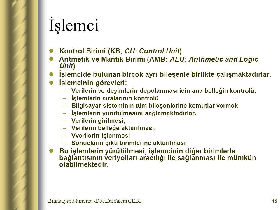 İşlemci Kontrol Birimi (KB; CU: Control Unit)