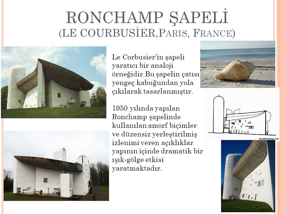RONCHAMP ŞAPELİ (LE COURBUSİER,Paris, France)
