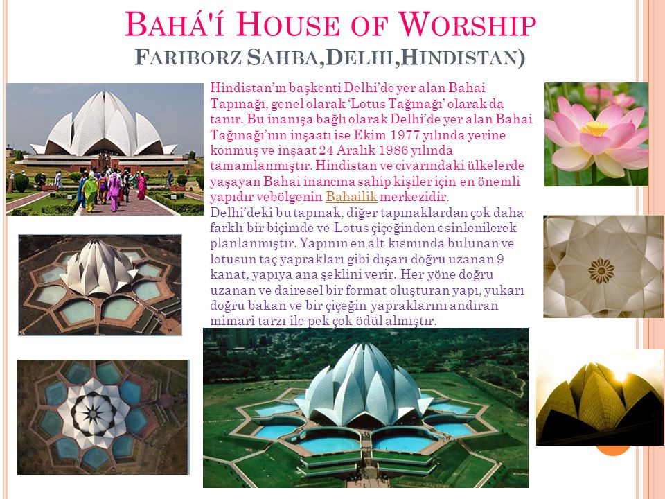 Bahá í House of Worship Fariborz Sahba,Delhi,Hindistan)