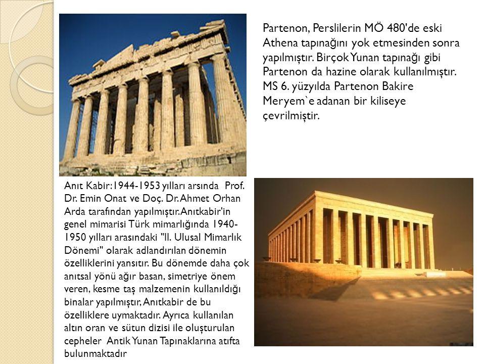 Partenon, Perslilerin MÖ 480 de eski Athena tapınağını yok etmesinden sonra yapılmıştır. Birçok Yunan tapınağı gibi Partenon da hazine olarak kullanılmıştır.