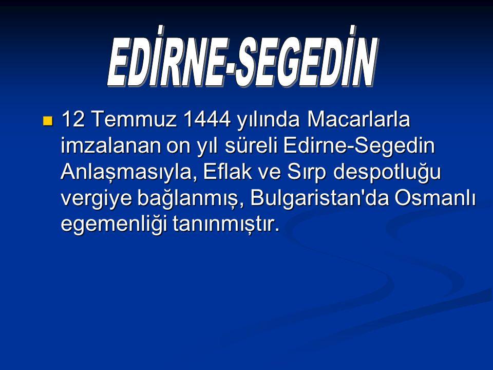 EDİRNE-SEGEDİN