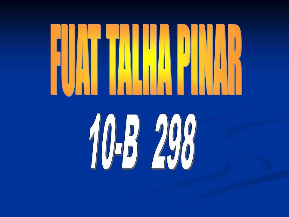 FUAT TALHA PINAR 10-B 298