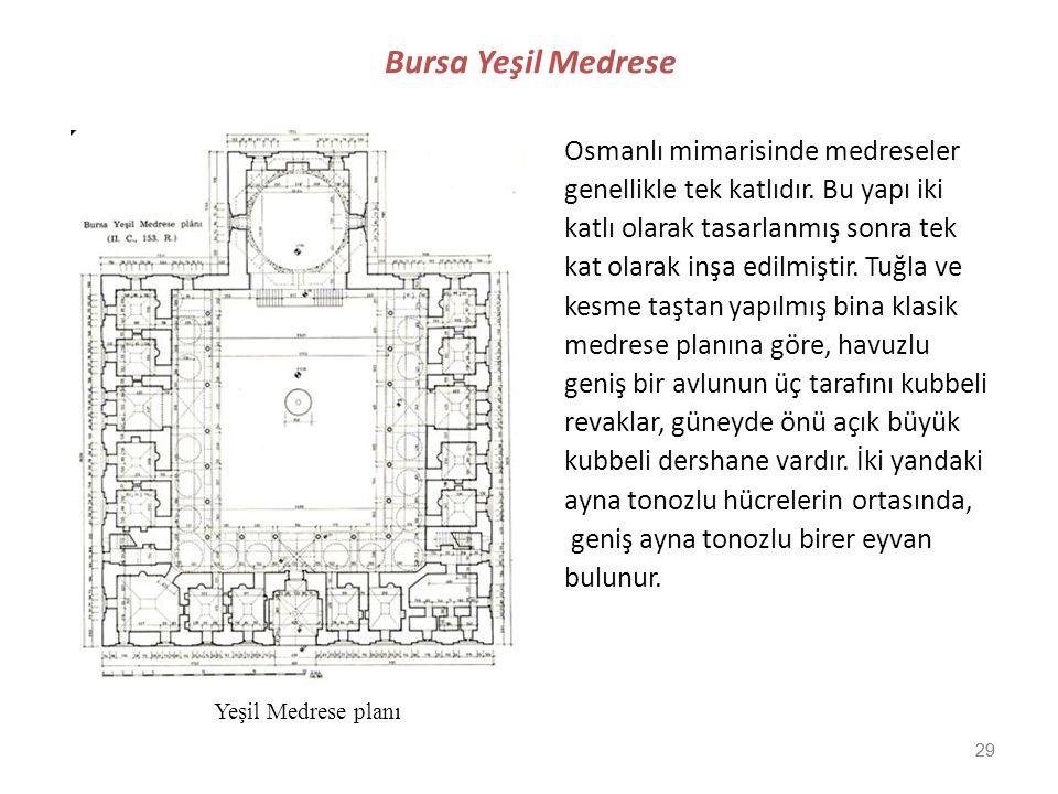 Bursa Yeşil Medrese Osmanlı mimarisinde medreseler