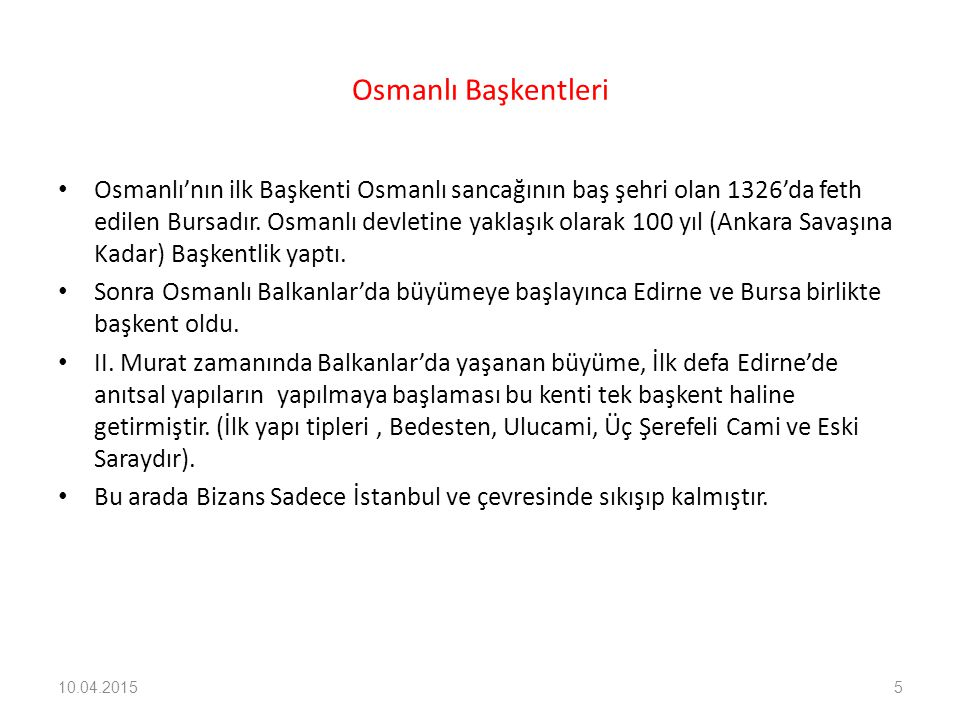 Osmanlı Başkentleri