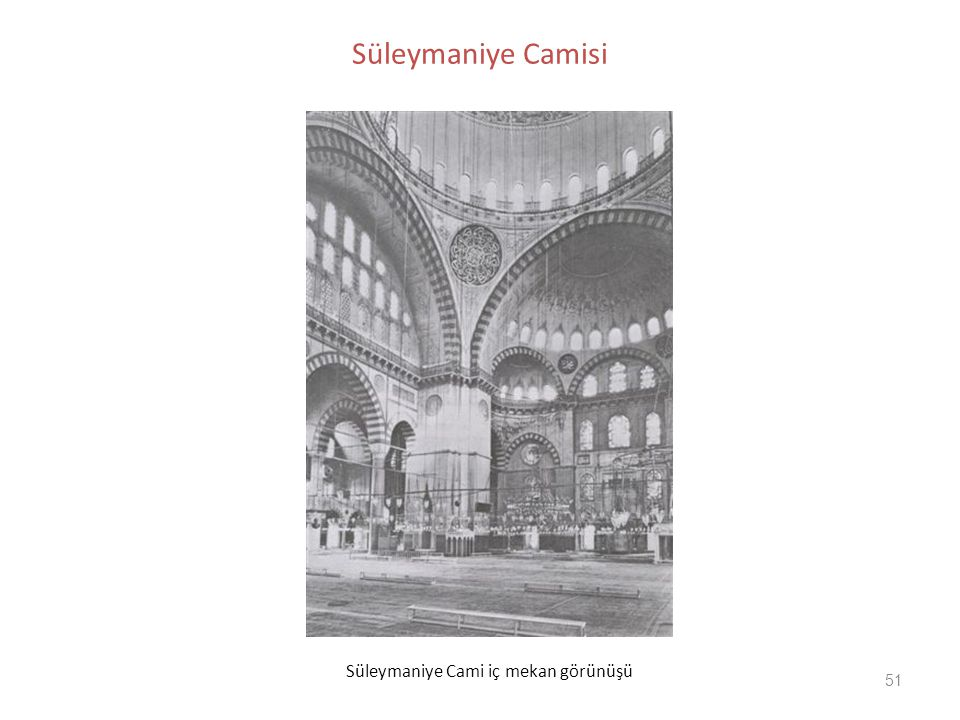 Süleymaniye Camisi Süleymaniye Cami iç mekan görünüşü