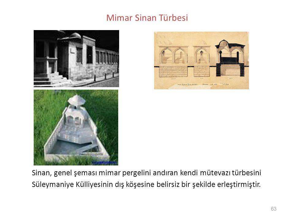 Mimar Sinan Türbesi Sinan, genel şeması mimar pergelini andıran kendi mütevazı türbesini.