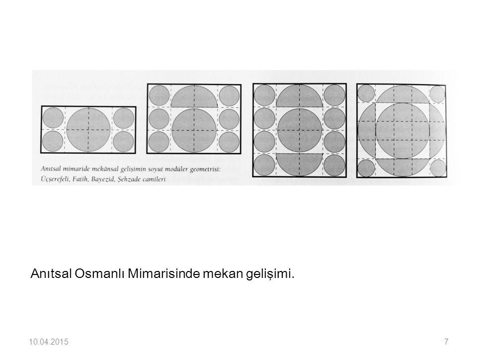 Anıtsal Osmanlı Mimarisinde mekan gelişimi.