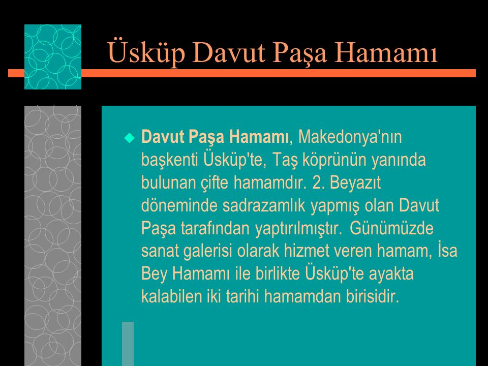 Üsküp Davut Paşa Hamamı