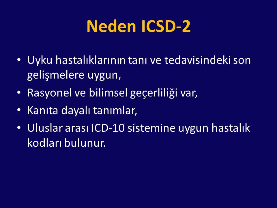 Neden ICSD-2 Uyku hastalıklarının tanı ve tedavisindeki son gelişmelere uygun, Rasyonel ve bilimsel geçerliliği var,