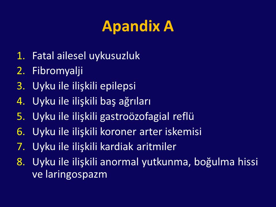 Apandix A Fatal ailesel uykusuzluk Fibromyalji