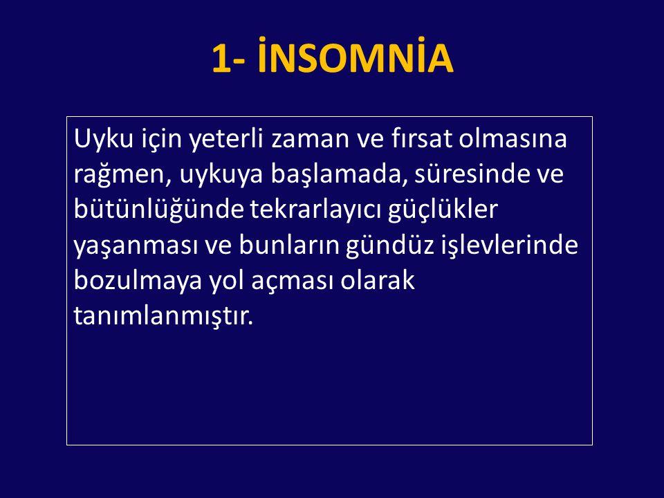 1- İNSOMNİA