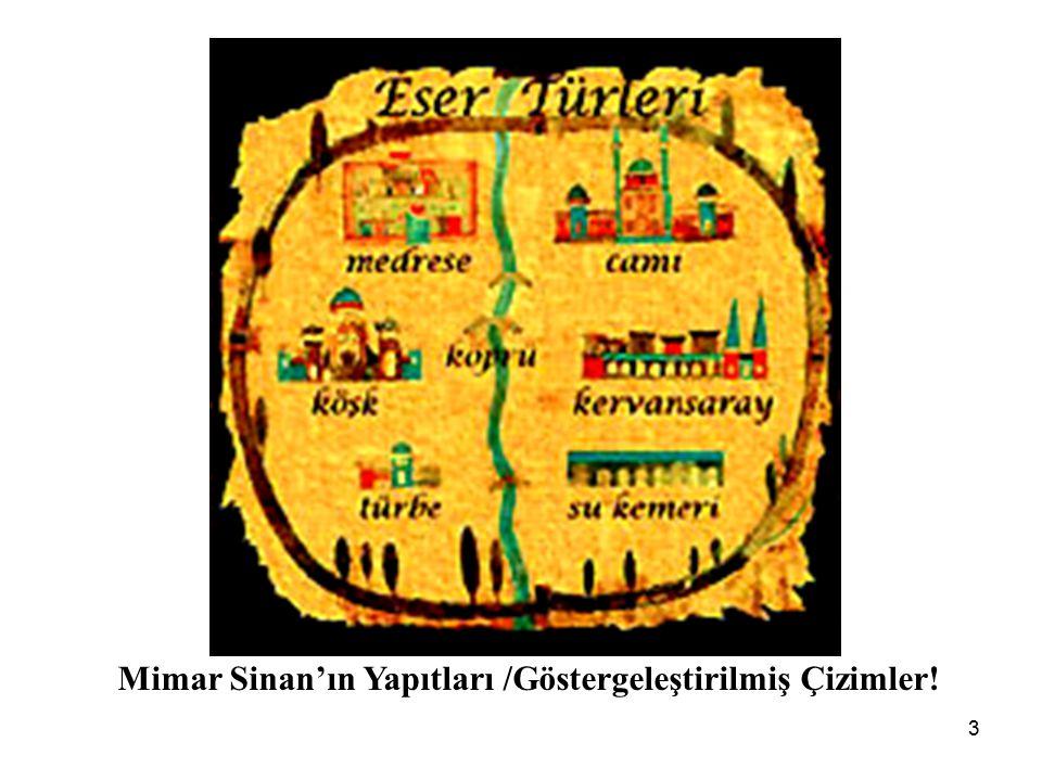 Mimar Sinan'ın Yapıtları /Göstergeleştirilmiş Çizimler!