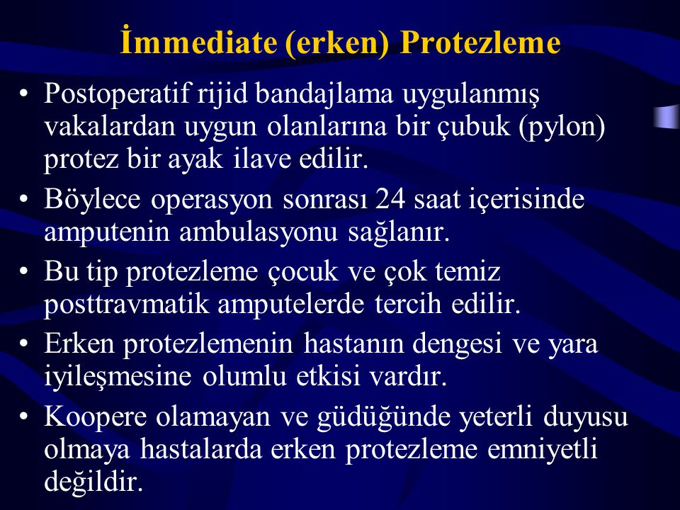 İmmediate (erken) Protezleme