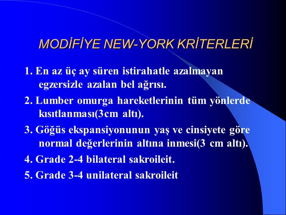 MODİFİYE NEW-YORK KRİTERLERİ