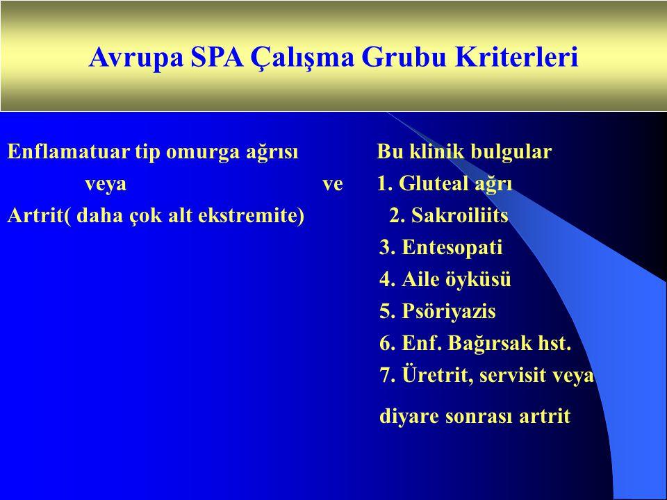 Avrupa SPA Çalışma Grubu Kriterleri