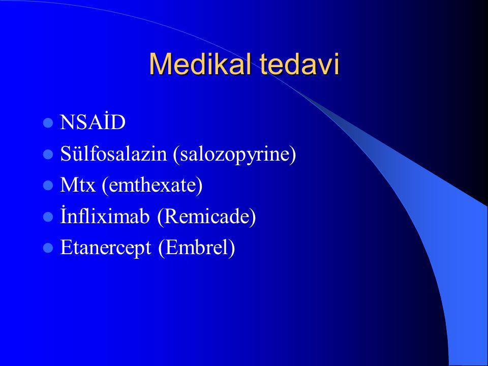 Medikal tedavi NSAİD Sülfosalazin (salozopyrine) Mtx (emthexate)