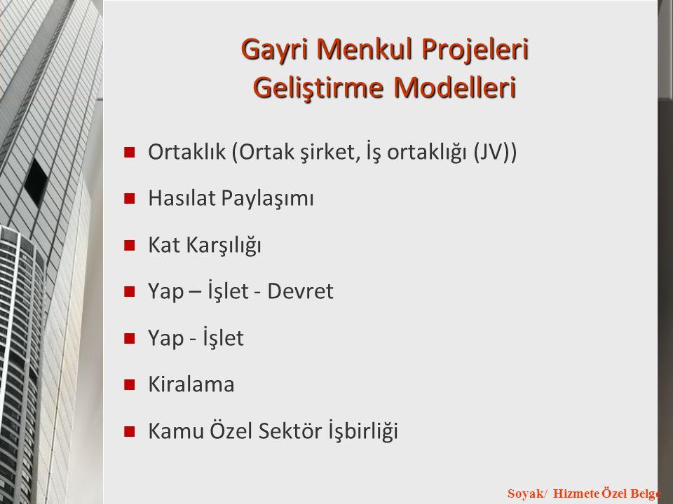 Gayri Menkul Projeleri Geliştirme Modelleri