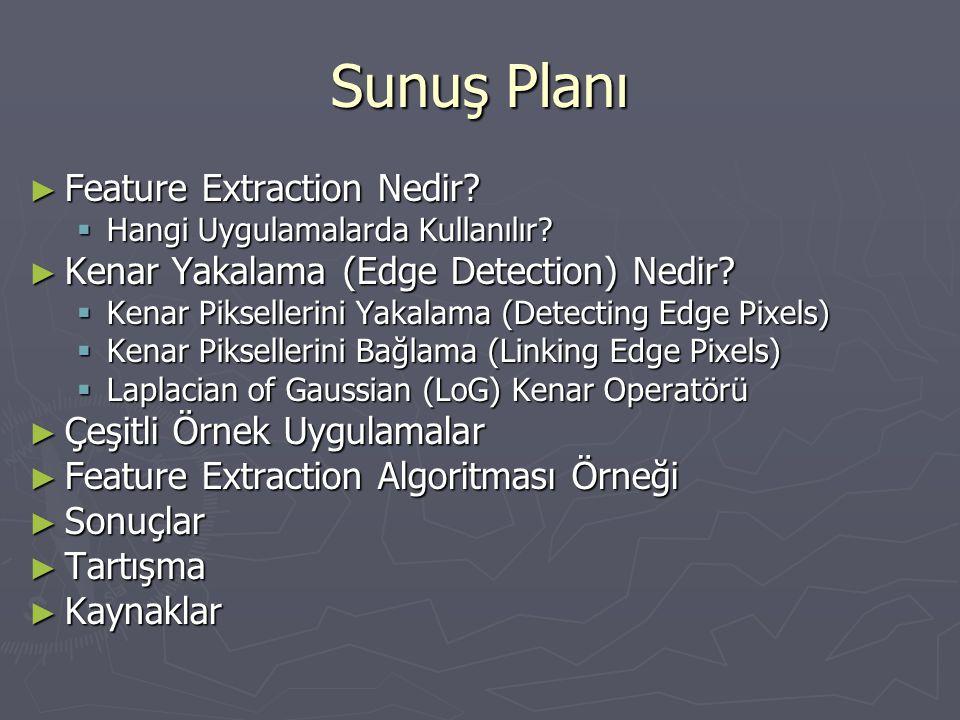 Sunuş Planı Feature Extraction Nedir