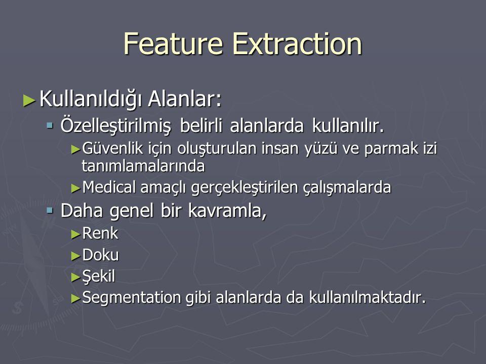 Feature Extraction Kullanıldığı Alanlar: