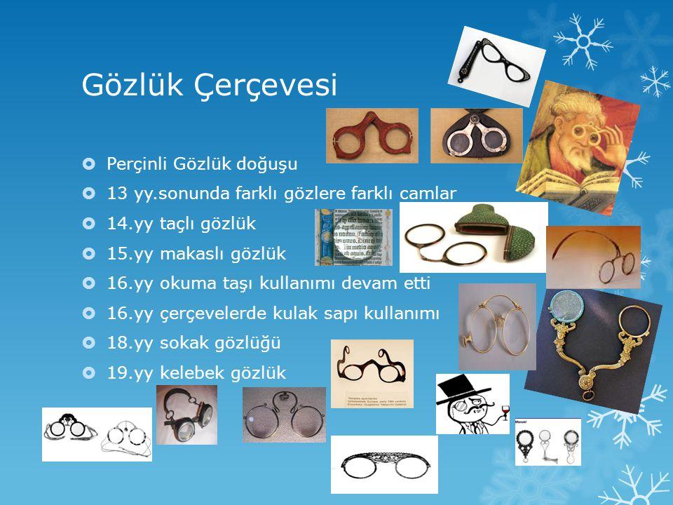 Gözlük Çerçevesi Perçinli Gözlük doğuşu