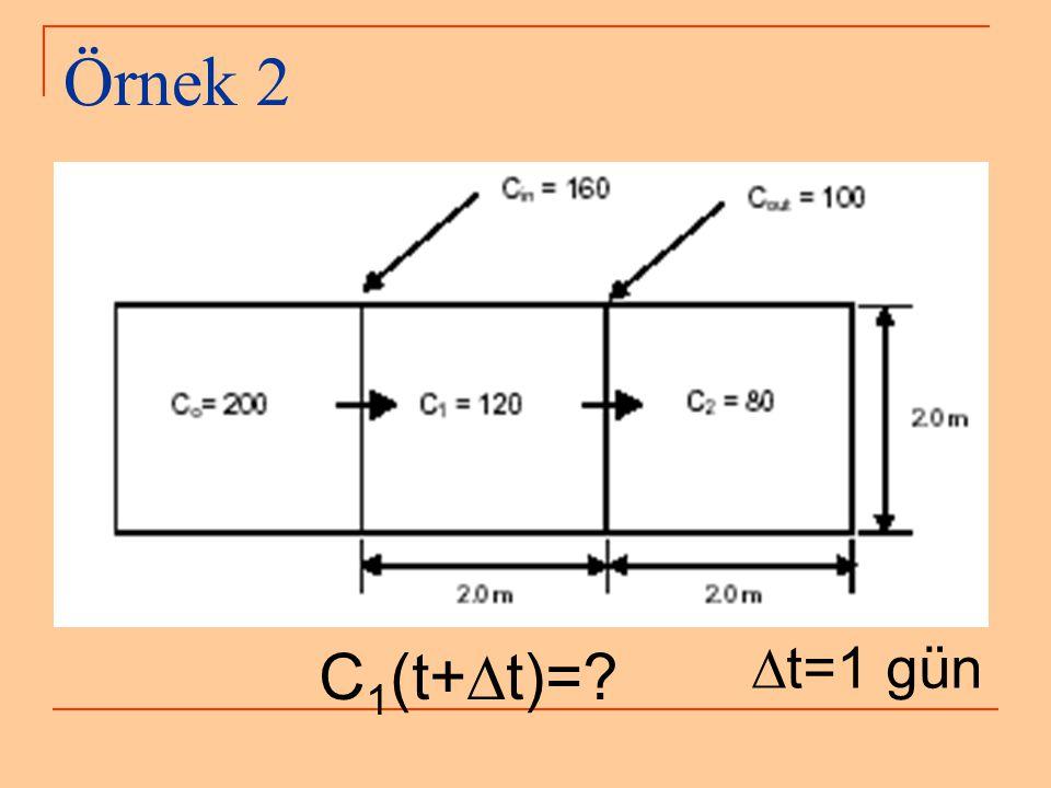 Örnek 2 C1(t+Dt)= Dt=1 gün