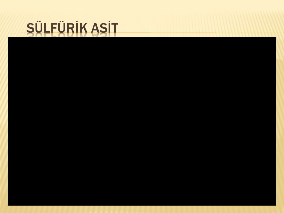 SÜLFÜRİK ASİT