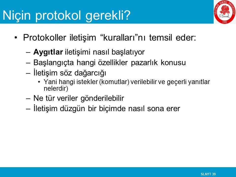 Niçin protokol gerekli
