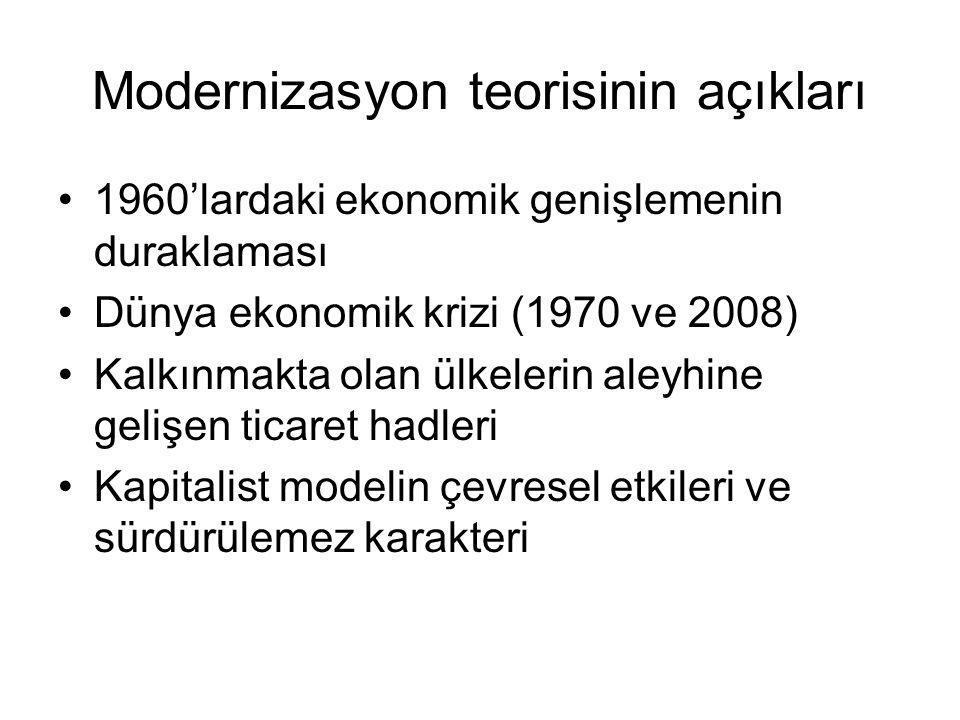 Modernizasyon teorisinin açıkları