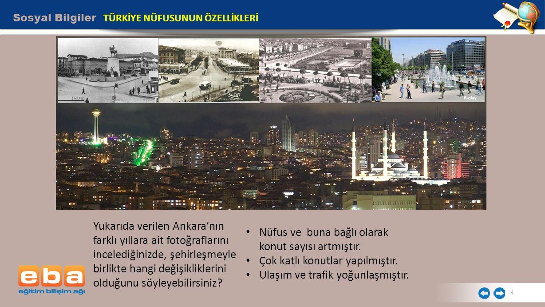 Yukarıda verilen Ankara'nın
