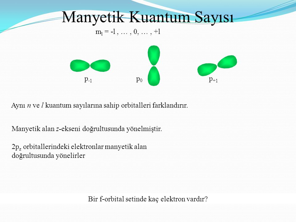Manyetik Kuantum Sayısı