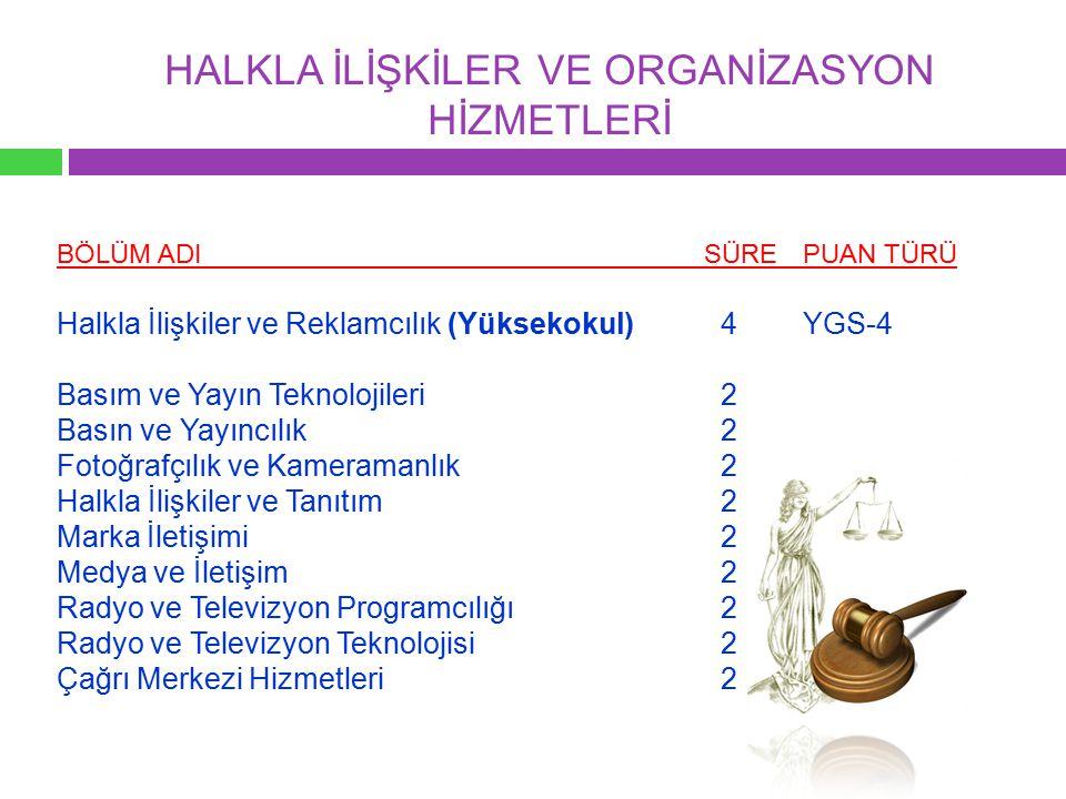 HALKLA İLİŞKİLER VE ORGANİZASYON HİZMETLERİ