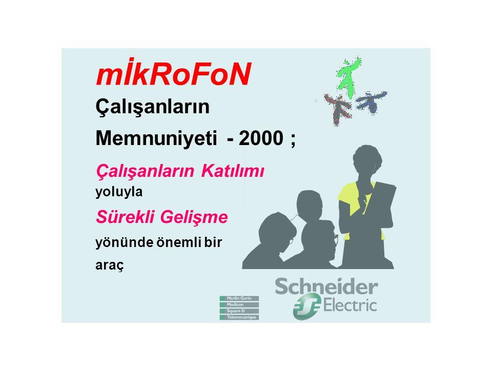 mİkRoFoN Çalışanların Memnuniyeti - 2000 ;