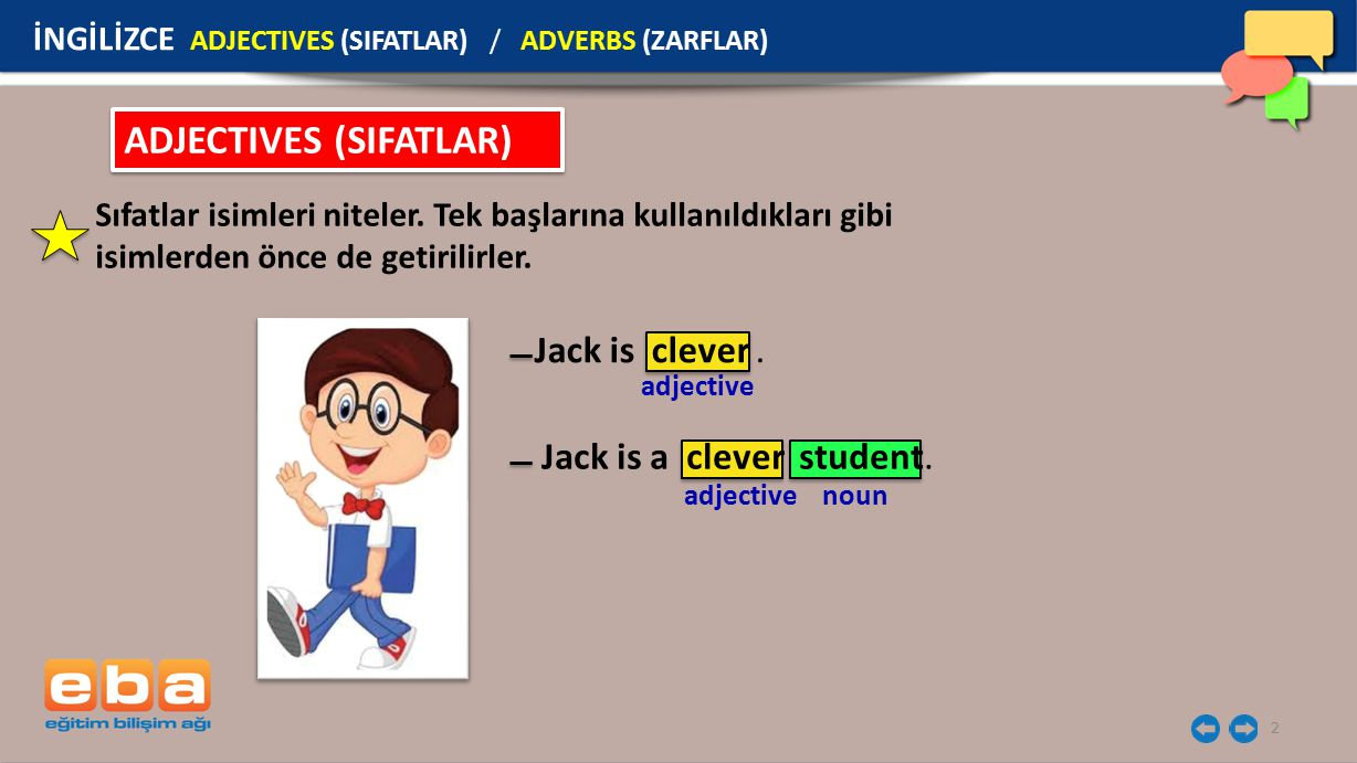 ADJECTIVES (SIFATLAR)