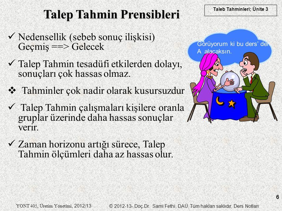 Talep Tahmin Prensibleri