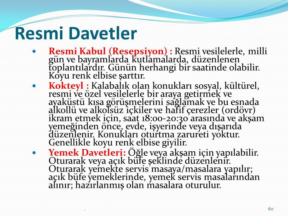 Resmi Davetler