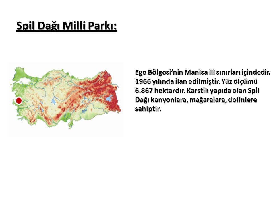 Spil Dağı Milli Parkı: