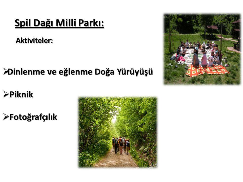 Spil Dağı Milli Parkı: Dinlenme ve eğlenme Doğa Yürüyüşü Piknik