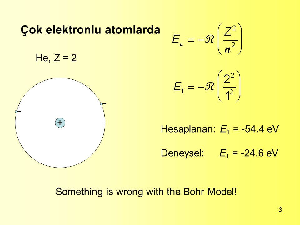 Çok elektronlu atomlarda