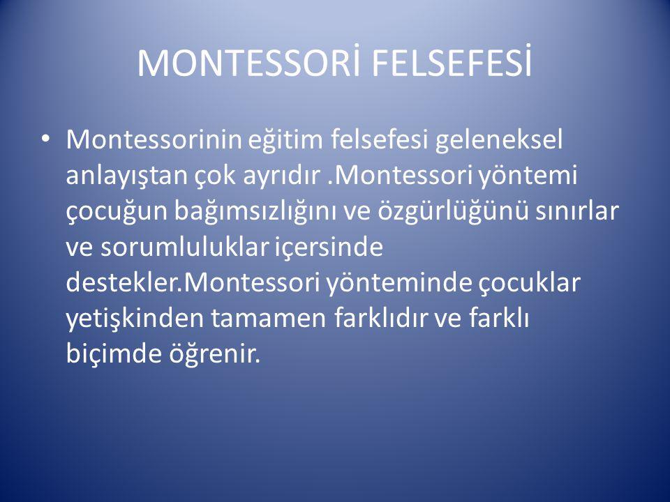 MONTESSORİ FELSEFESİ