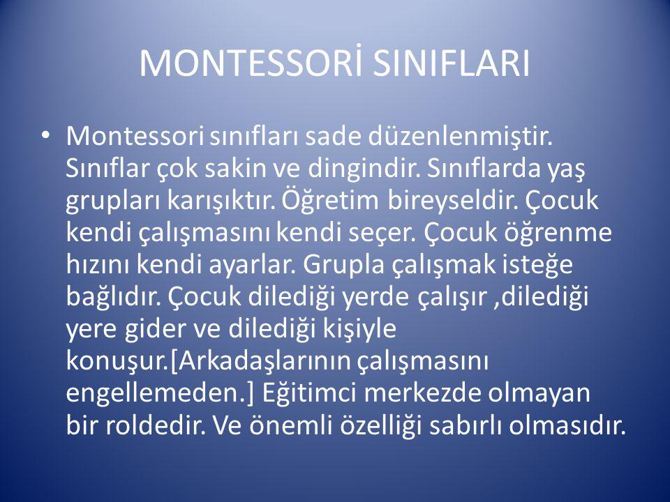 MONTESSORİ SINIFLARI