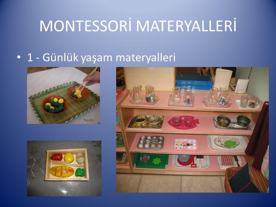 MONTESSORİ MATERYALLERİ