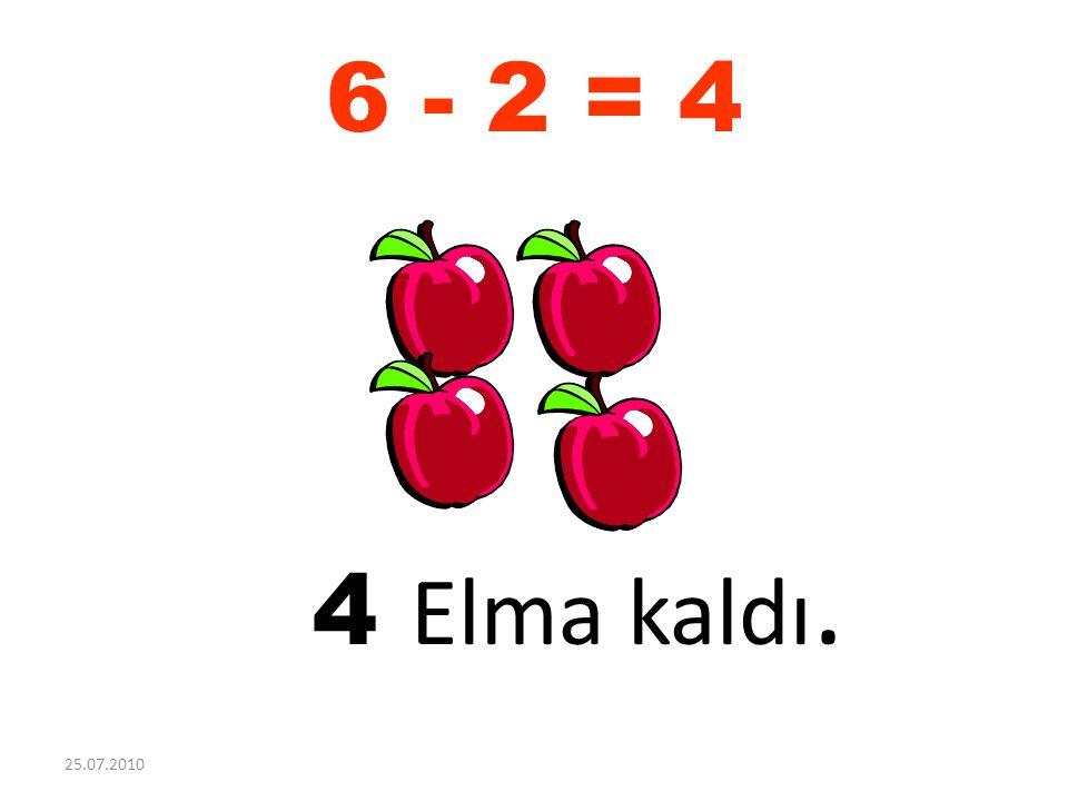 6 - 2 = 4 4 Elma kaldı. 25.07.2010