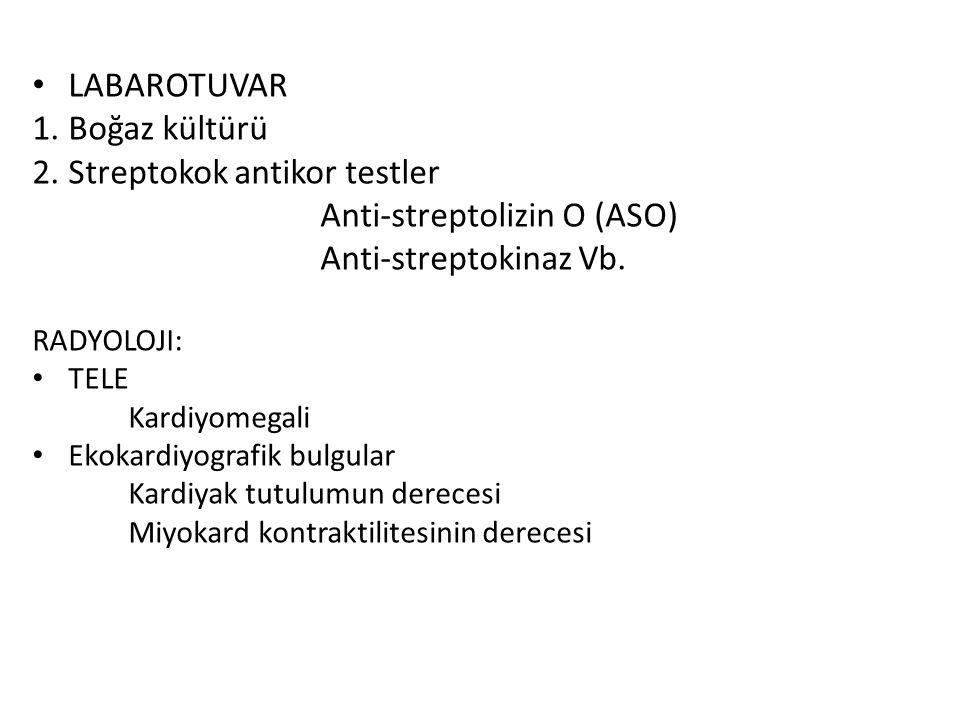 Streptokok antikor testler Anti-streptolizin O (ASO)
