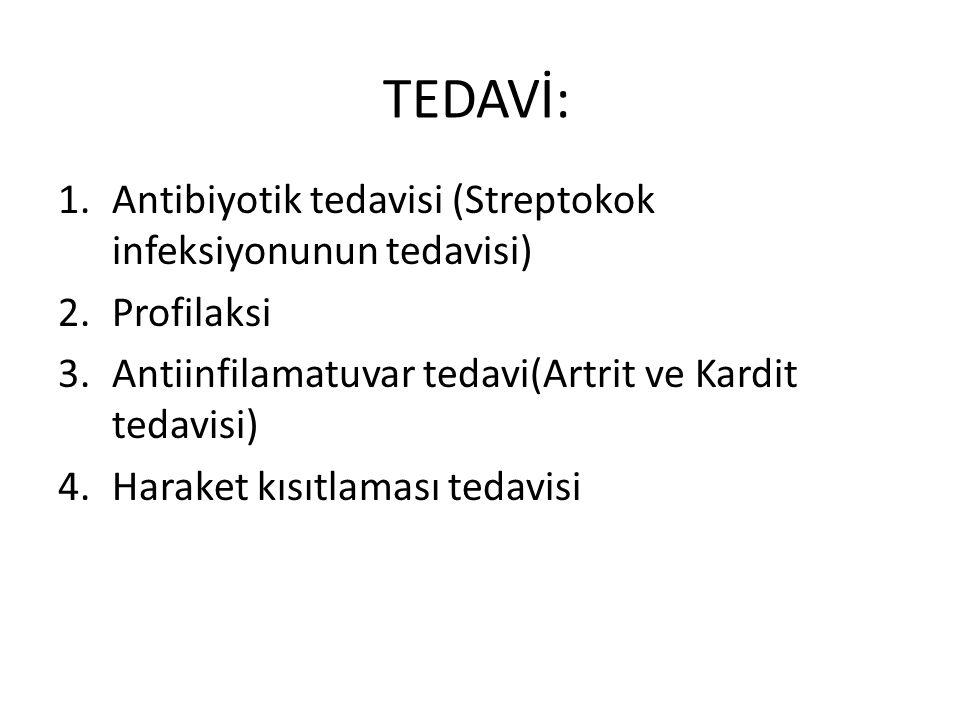TEDAVİ: Antibiyotik tedavisi (Streptokok infeksiyonunun tedavisi)