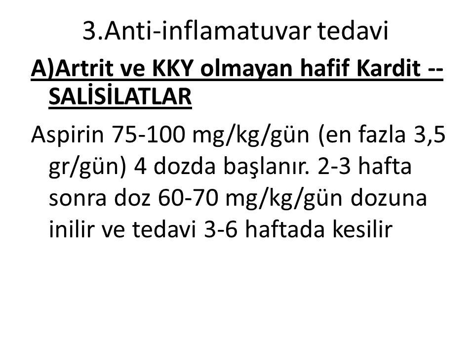 3.Anti-inflamatuvar tedavi