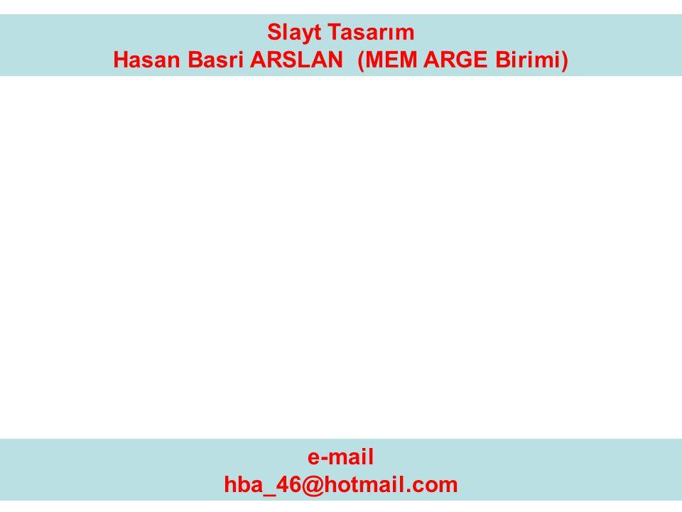 Hasan Basri ARSLAN (MEM ARGE Birimi)