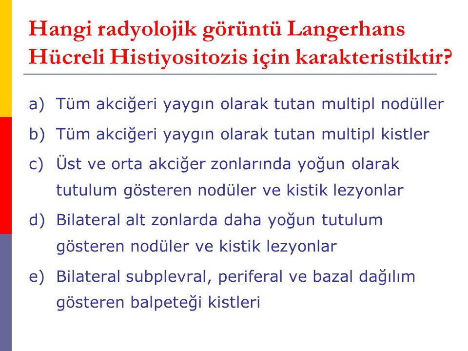 Hangi radyolojik görüntü Langerhans Hücreli Histiyositozis için karakteristiktir
