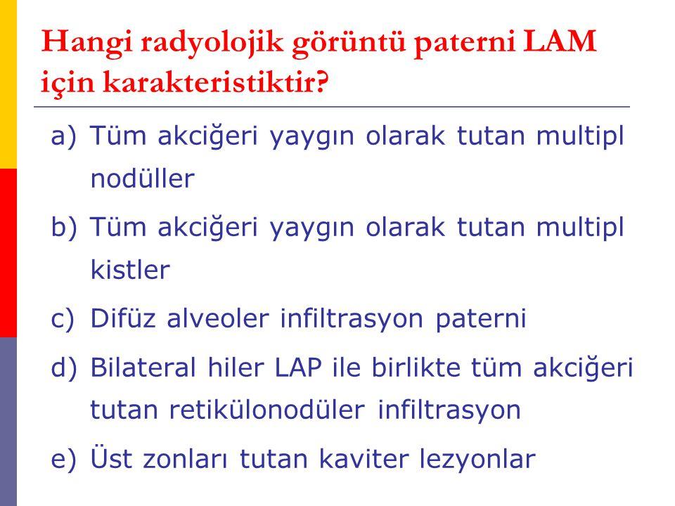 Hangi radyolojik görüntü paterni LAM için karakteristiktir